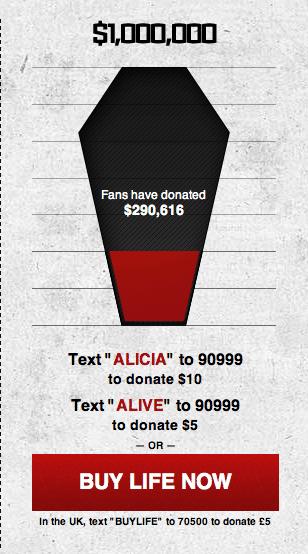 המעקב אחר התרומות: ארון קבורה וירטואלי שמתמלא בכסף עד החזרה לחיים